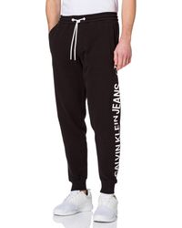 Calvin Klein Jeans CK Vertical Logo HWK Pant Tuta da Ginnastica - Nero
