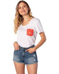 Rip Curl - Island Pocket ,T-Shirt,Short Sleeve Tee,Kurze Ärmel,Rundausschnitt,Brusttasche,White,XS - Lyst