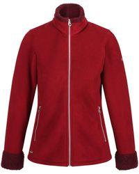 Regatta Bernice Fleece Jacket Delhi/burgundy Size Uk 8 | De 34 2019 Winter Jacket - Red