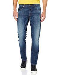 Benetton Jeans 5 Tasche Basico Denim Regular Weist Straight Uomo - Blu