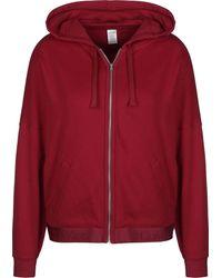 Calvin Klein Full Zip Hoodie Haut de Pijama - Rouge