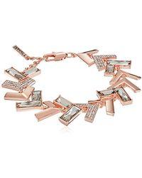 T Tahari - Chevron Chic Jet Cry Link Bracelet - Lyst