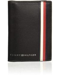 Tommy Hilfiger Fine Mini CC Wallet Sky Captain - Noir