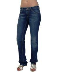 Edc By Esprit , Five Jeans Hose, Bootcut, Strech, Low Rise, Slim Fit, N4D070, blau W27/L34