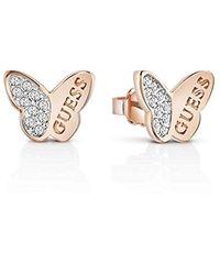 Guess Boucles d'oreilles Mariposa papillons (ube83022) - Rose