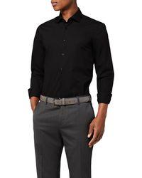 Tommy Hilfiger Core Stretch Poplin Slim Shirt Camisa - Negro