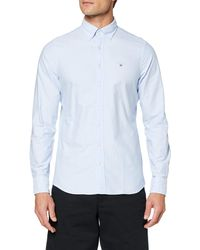 GANT The Oxford Shirt Slim BD Hemd mit Button-Down-Kragen - Blau