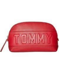 Tommy Hilfiger Chiara Smooth PVC Cosmetic Bag Tommy Red One Size - Rot