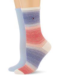 Tommy Hilfiger Gradient Stripe Socks - Bleu