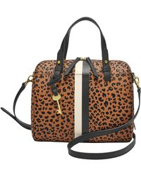 Fossil Rachel Satchel Cheetah - Marrone