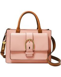 Fossil Wiley Satchel Dusty Rose - Rosa