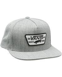 Vans Full Patch Snapback Baseball Cap - Grau