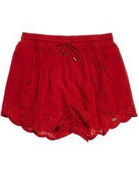 Superdry Shorts Anabelle Rouge pour Les s S Rouge