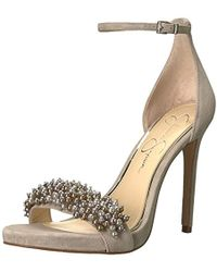 0f79cd2474c Lyst - Jessica Simpson Willey Heeled Sandal Natural Multi in Natural