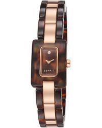 Esprit Armbanduhr Desert Tortoise Rose Analog Quarz ES106492004 - Mehrfarbig