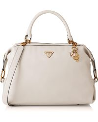 Guess Destiny Satchel Hobo Bags - White