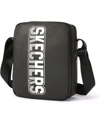 Skechers Casual Shoulder Bag Small Hand Bags Crossbody Bag For School Working Camping Hiking - Black