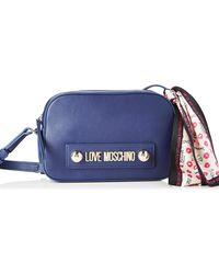 Love Moschino Adults Jc4027pp18lc0750 Messenger Bag - Blue