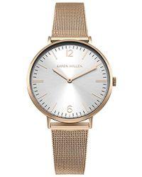 Karen Millen Contemporary Mesh Strap Watch - Rose Gold Color - Metallic