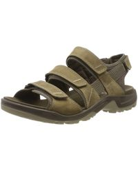 Ecco Yucatan 4strap Outdoor Offroad Hiking Sandal - Brown