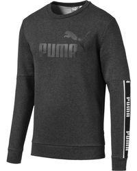 PUMA Sweat Amplified pour Dark Gray Heather XS - Gris