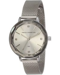 French Connection S Analogue Classic Quartz Watch With Stainless Steel Strap Fc1318sm - Metallic