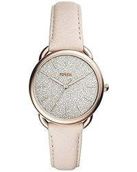 Fossil Quarz Uhr mit Leder Armband ES4292 - Mettallic