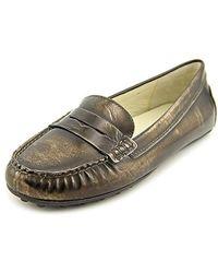 fa5a6d93bbcfc Michael Daisy Moc Moc Toe Leather Loafer - Multicolour