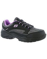 Skechers For Work Bisco Slip Resistant Work Shoe - Black