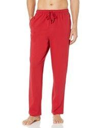 Amazon Essentials Pantalón de Pijama de Punto Pajama-Bottoms - Rojo