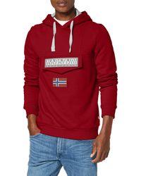 Napapijri Burgee 2 Sweatshirt à Capuche - Rouge