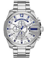 DIESEL Chronograph Quarz Uhr mit Edelstahl Armband DZ4477 - Mettallic