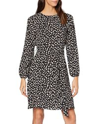Dorothy Perkins Non Print Pleat Neck Fit And Flare Party Dress - Black