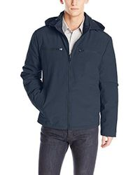 Kenneth Cole - Softshell Jacket With Packable Lining - Lyst
