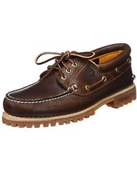 Timberland Authentics 3 Eye Classic, Chaussures Bateau Homme, Marron (Brown Pull Up)