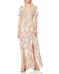 Miss Selfridge Ivory Scarf Print Button Maxi Dress - White