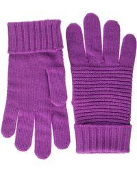 Benetton (z6erj) Guanti Gloves And Mittens - Purple