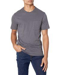 Goodthreads Amazon-Marke: -T-Shirt Kurzarm mit Rundhalsausschnitt - Grau