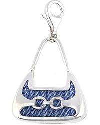 Esprit Charm 925 Silver/blue Denim Shopper Eszz90680a