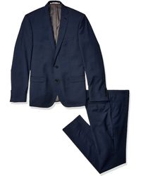 Ben Sherman Camden Check Slim Fit Suit - Blu