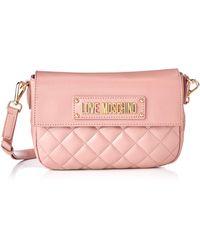 Love Moschino Borsa Quilted Nappa Pu Kuriertasche - Pink