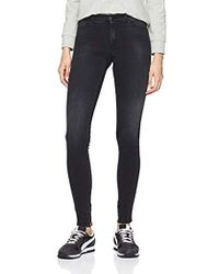Replay Stella Ankle Zip Jeans Skinny Donna - Nero