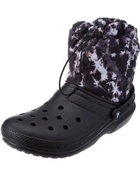 Crocs™ Classic Lined Neo Puff Boot Snow - Black
