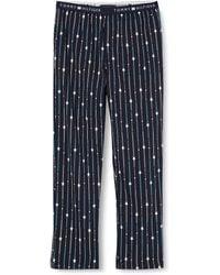 Tommy Hilfiger Jersey Trousers Print Pyjama Bottoms - Blue