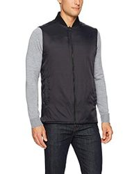 Kenneth Cole Reversible Knit/nylon Vest - Black