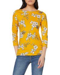 Dorothy Perkins Sketch Floral Print 3/4 Sleeve Top. Bluse - Gelb