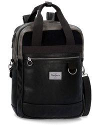 Pepe Jeans Miller Black Laptop Backpack 15,6 ́ ́ With Shoulder Strap