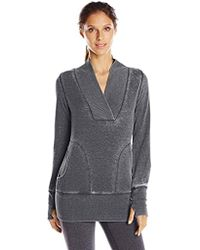 Marc New York - Marc New York Performance Distress Fleece Tunic With Thermal - Lyst