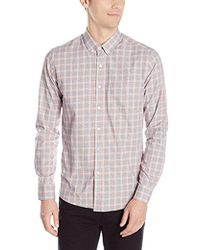 Kenneth Cole - Long Sleeve Slim Button Down Collar Promo Shirt - Lyst