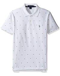 U.S. POLO ASSN. - Big And Tall Printed Short Sleeve Classic Fit Pique Polo Shirt - Lyst